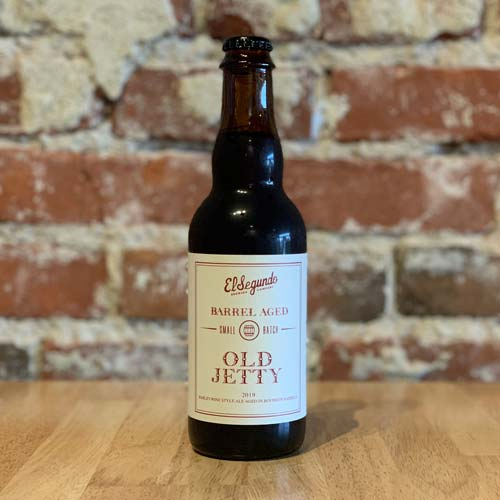 Single 375ml bottle of Old Jetty Barrel Aged beer